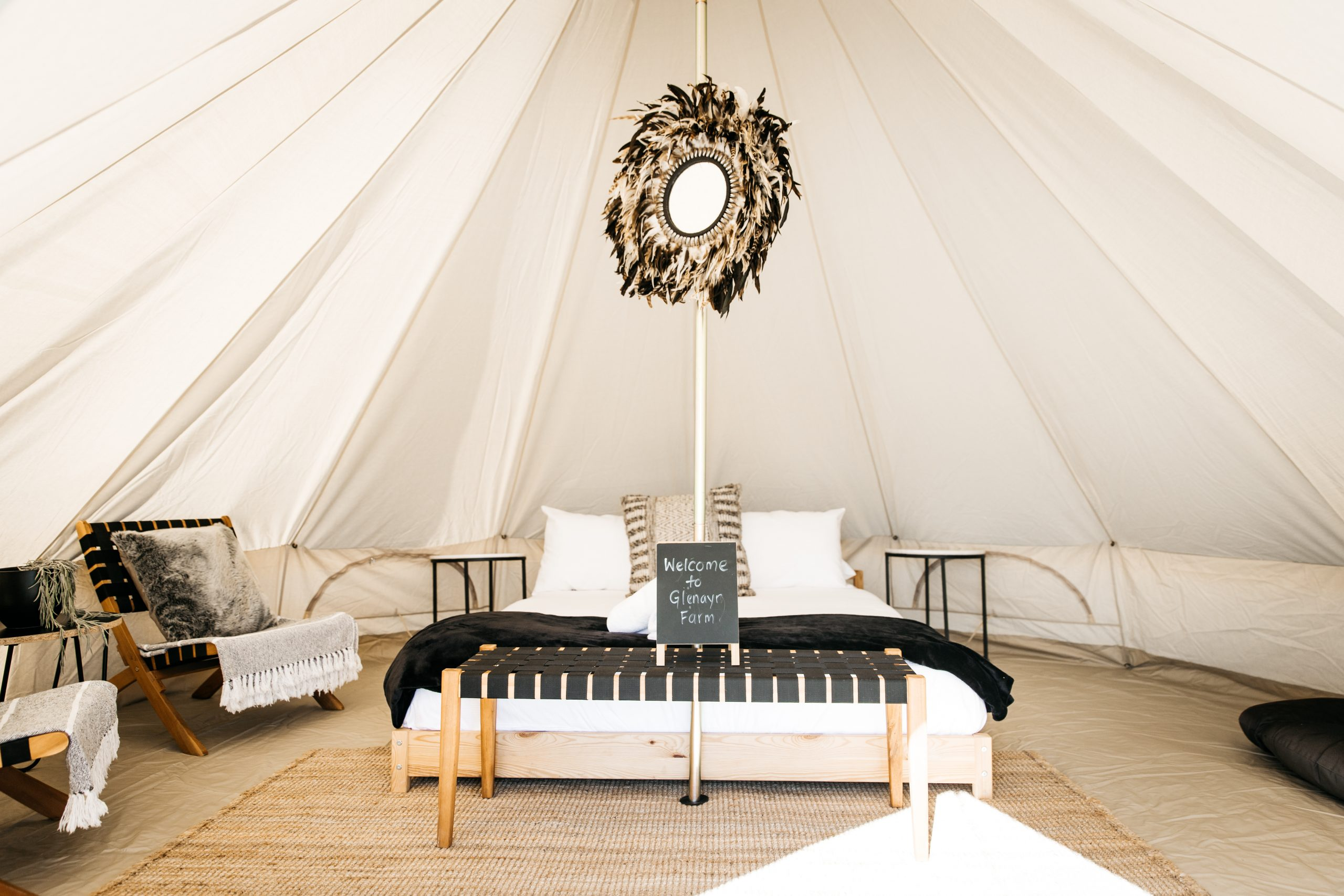 Luxury glamping tent near Mudgee NSW