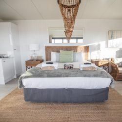 Luxury bed inside villa